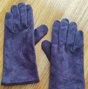 Dark Purple Suede Gloves.